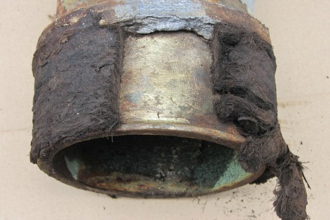 How To Remove Stuck Brass Ferrule From Cast Iron Hub